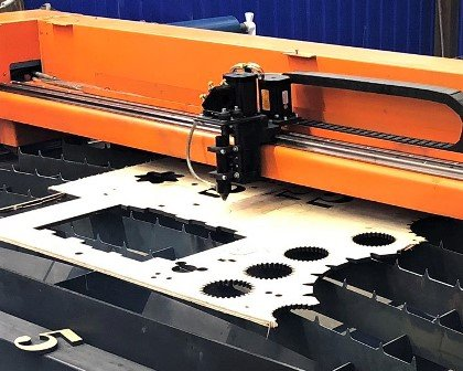 Лазерный станок для резки фанеры с ЧПУ